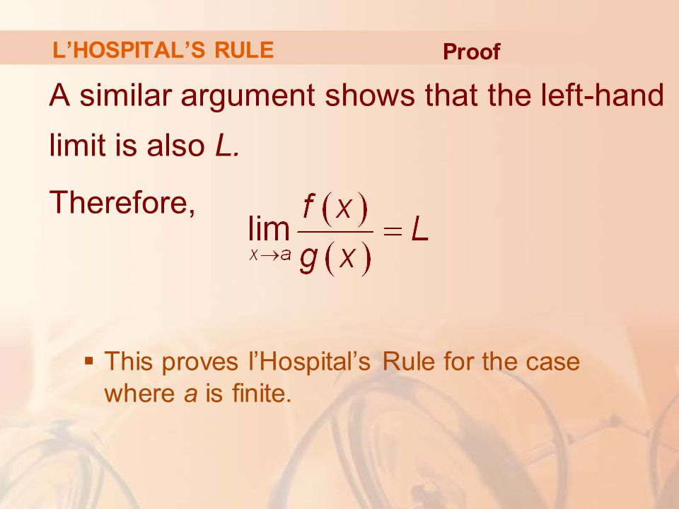 A similar argument shows that the left-hand limit is also L.