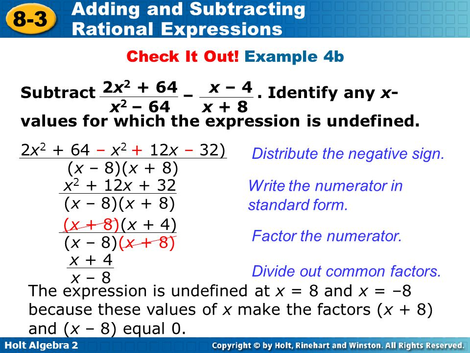 Adding And Subtracting Rational Expressions Ppt Video Online Download