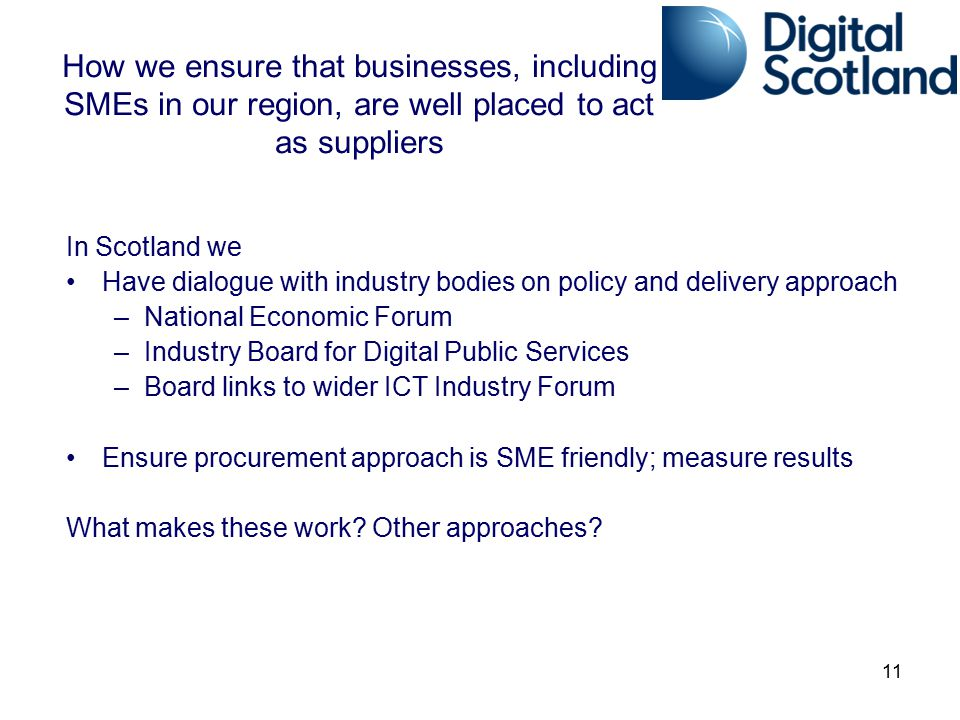 How we ensure that businesses, including SMEs in our region, are well placed to act as suppliers