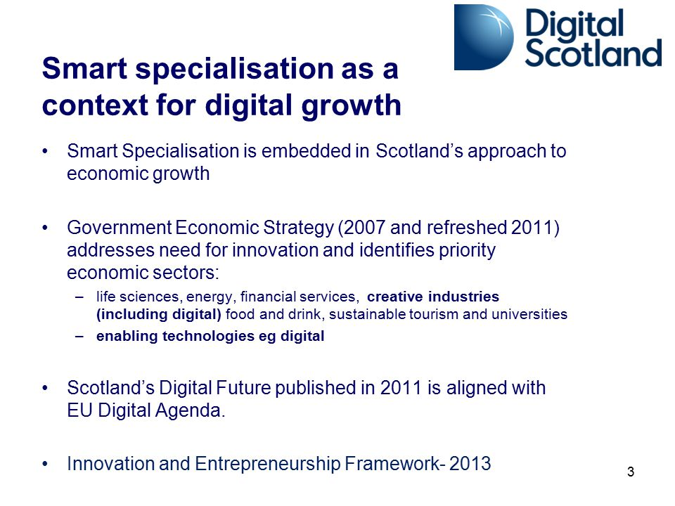 Smart specialisation as a context for digital growth