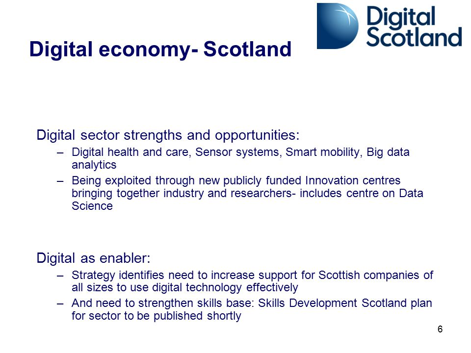 Digital economy- Scotland
