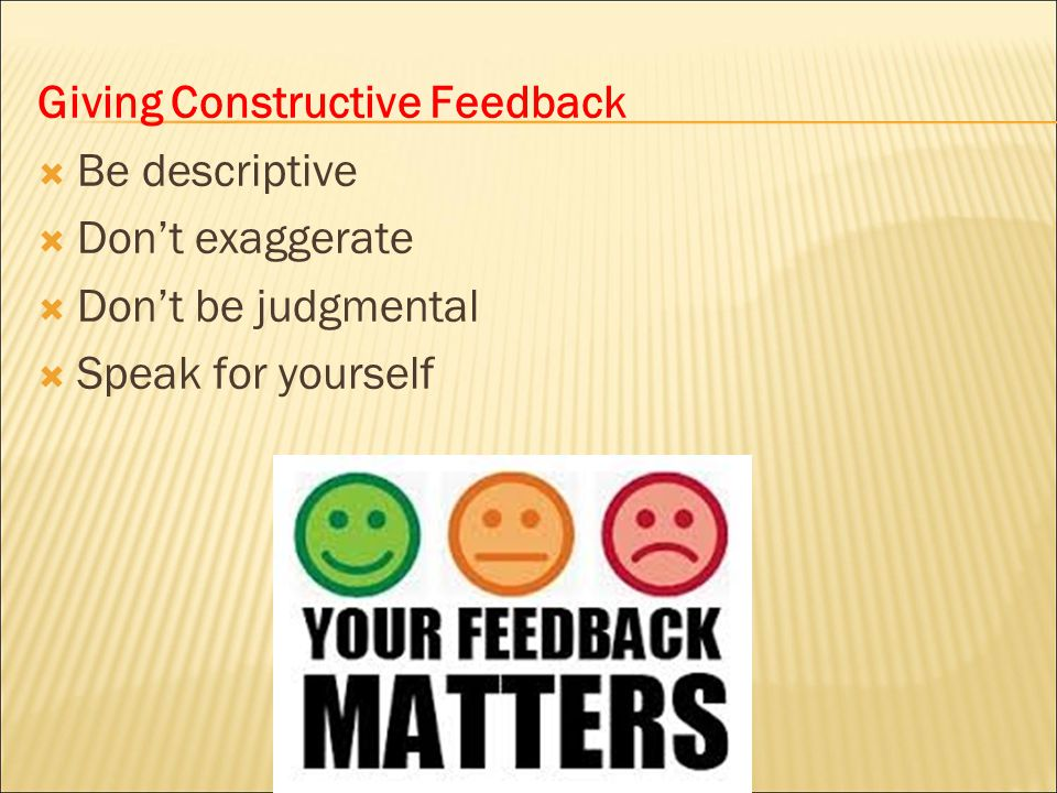Giving Constructive Feedback