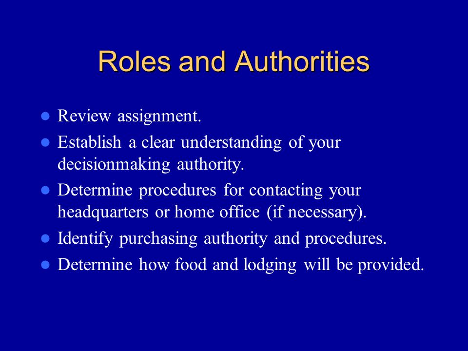 Roles and Authorities Review assignment.