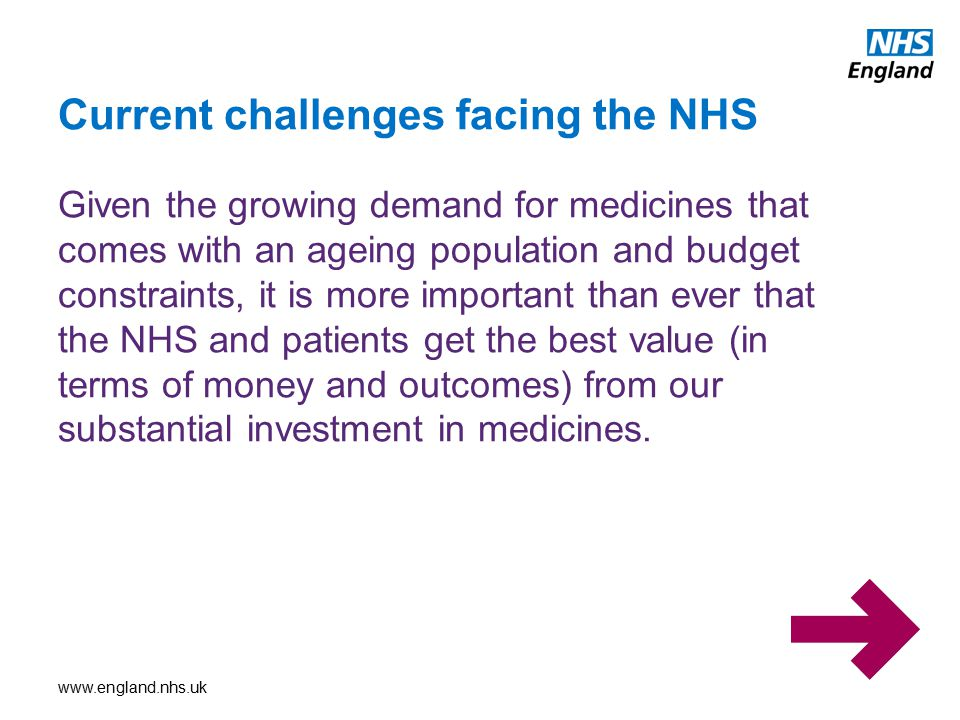 Current challenges facing the NHS