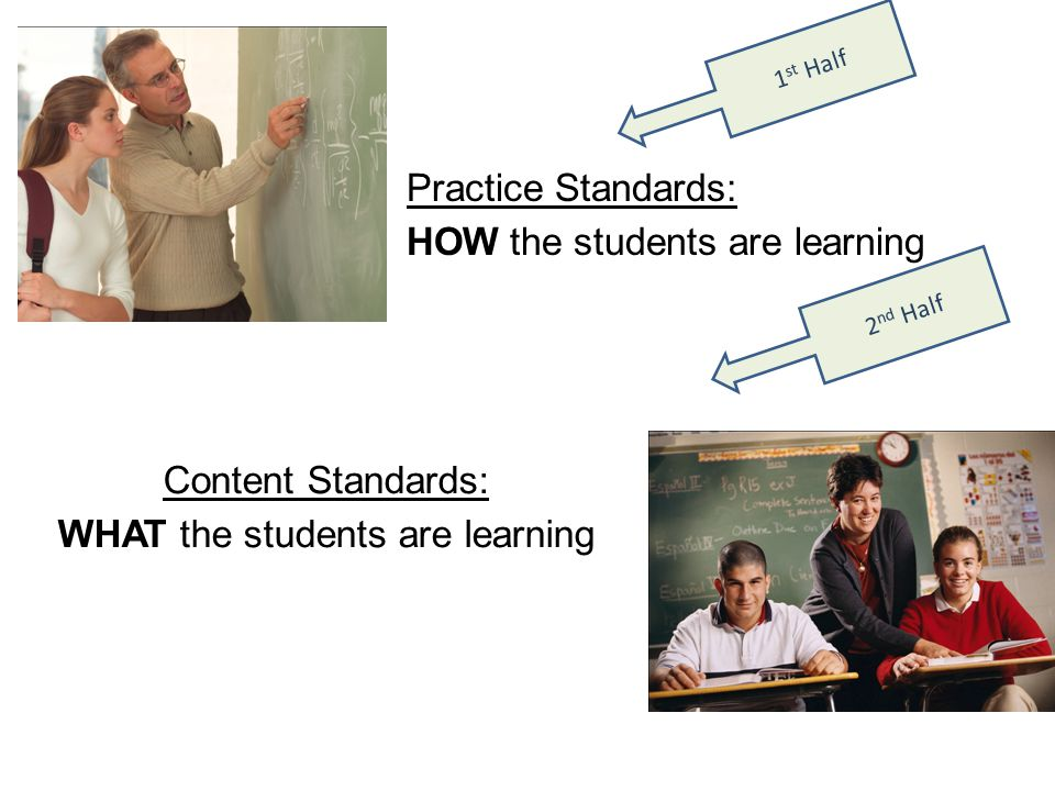 WHAT the students are learning
