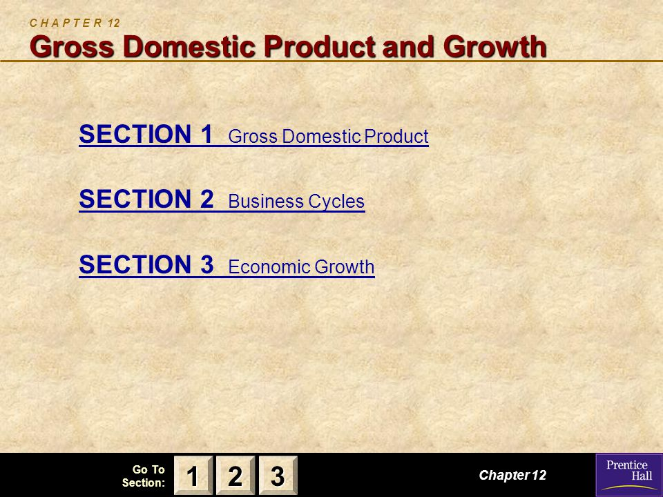 C H A P T E R 12 Gross Domestic Product and Growth