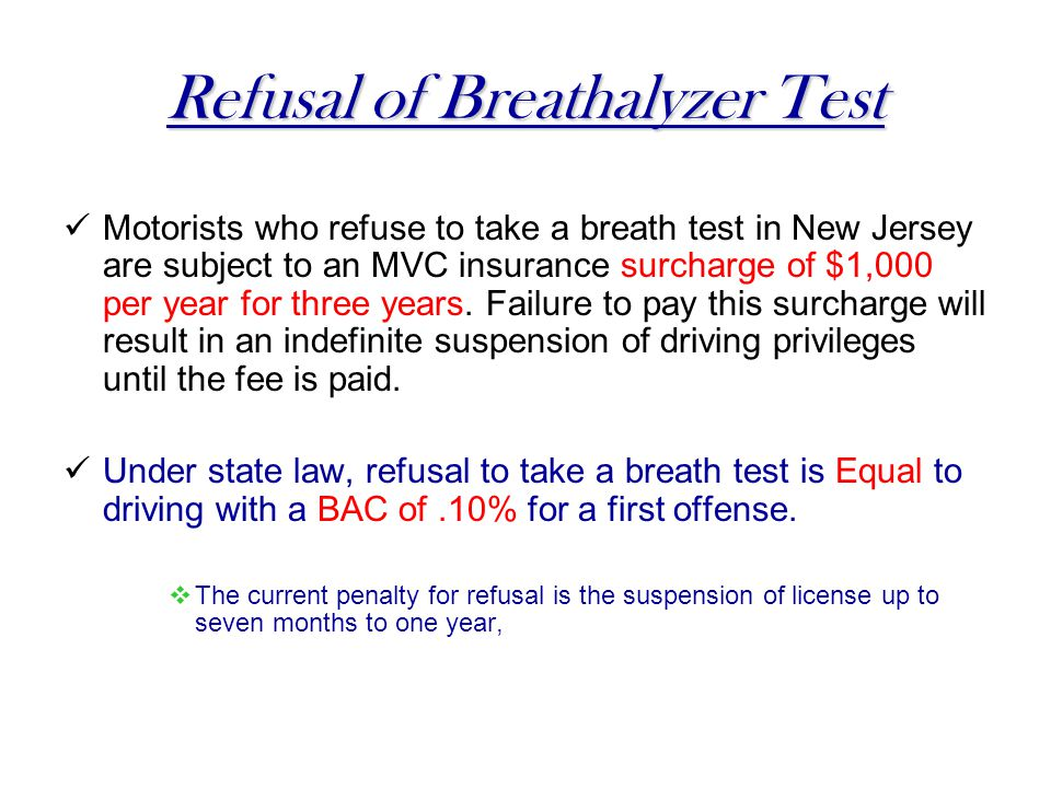 Refusal of Breathalyzer Test