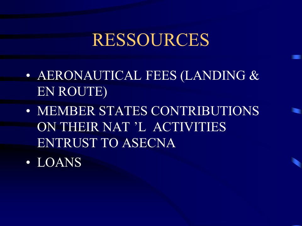 RESSOURCES AERONAUTICAL FEES (LANDING & EN ROUTE)
