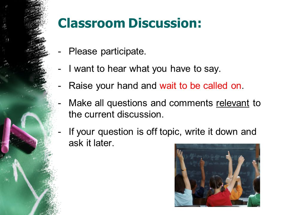 Classroom Discussion: