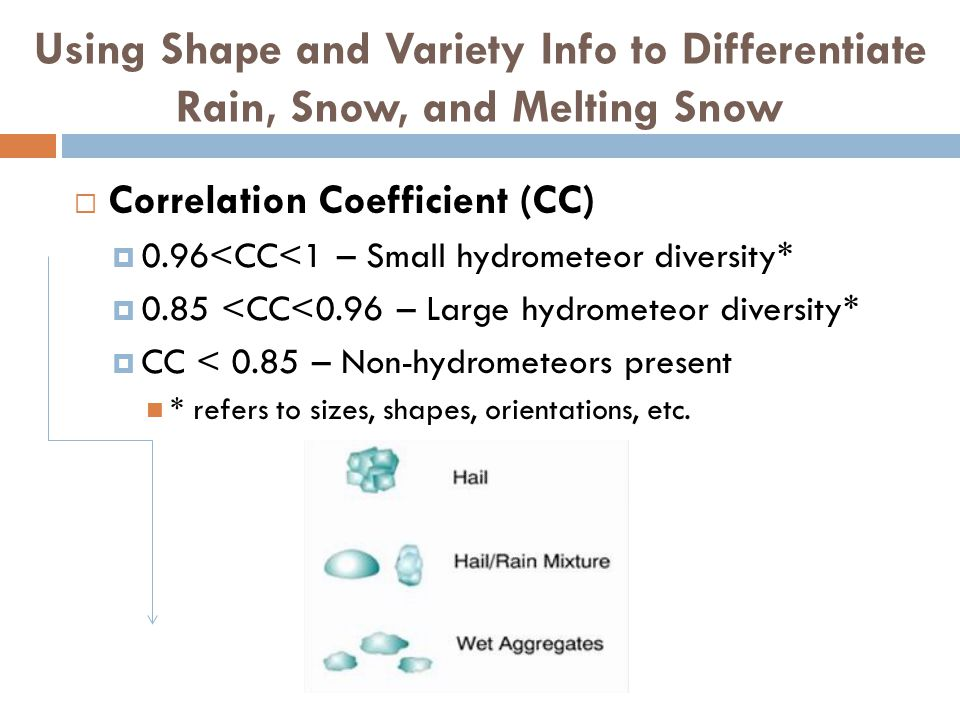 Using Shape and Variety Info to Differentiate Rain, Snow, and Melting Snow