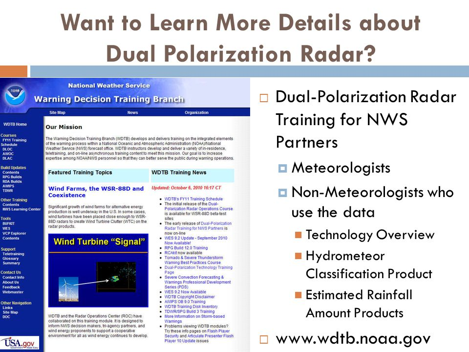 Want to Learn More Details about Dual Polarization Radar