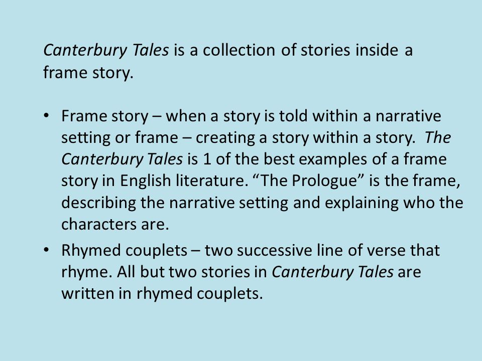 canterbury tales religion essay the canterbury tales study guide questions prologue 1 in lines 1-18 (which are all one sentence), identify the time and the author's main point april the main point is that according to the poet, people long to go on a pilgrimage in the spring.