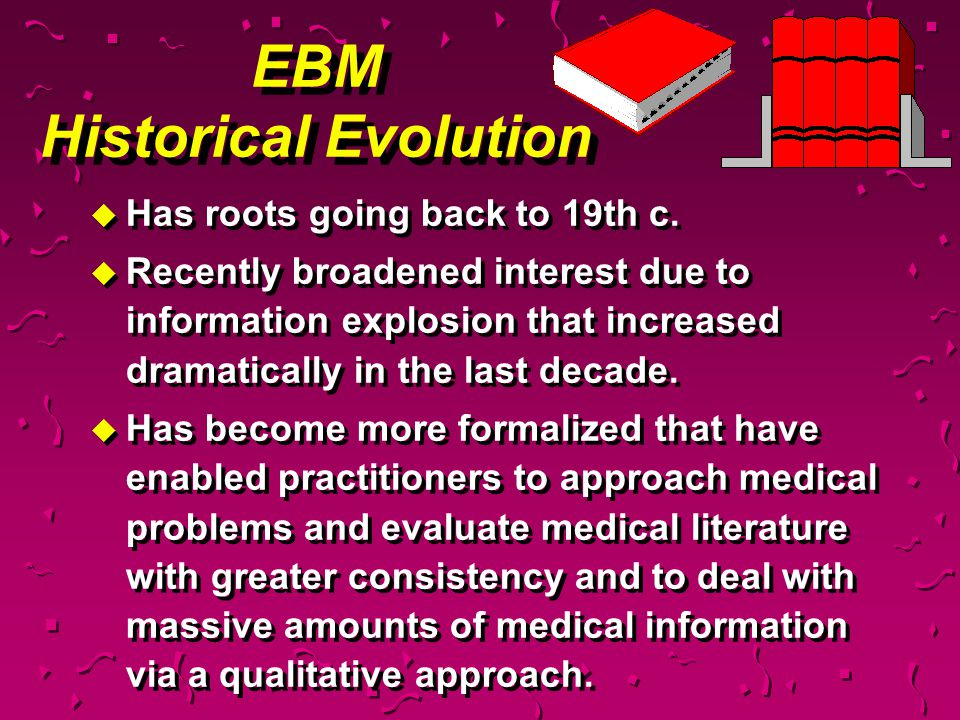 EBM Historical Evolution