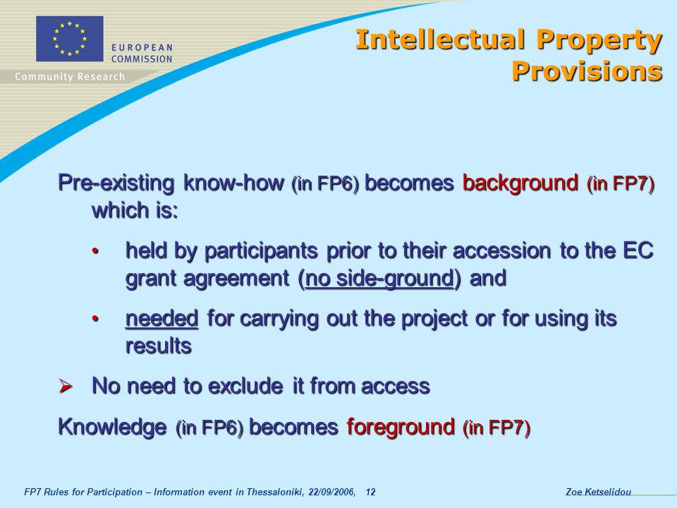 Intellectual Property Provisions