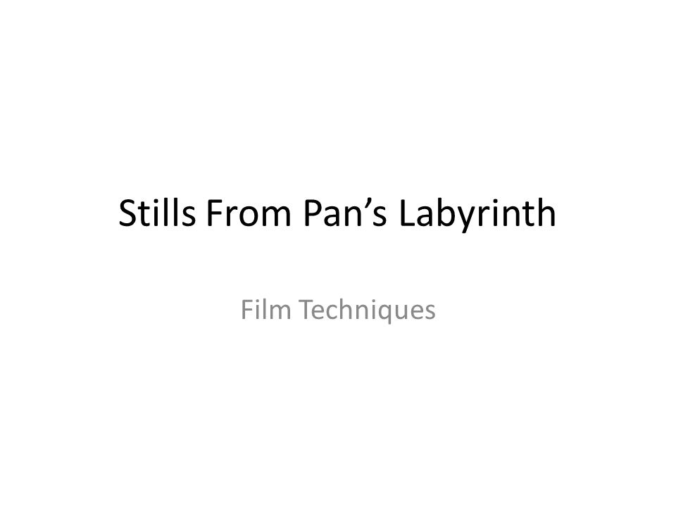 Stills From Pan's Labyrinth