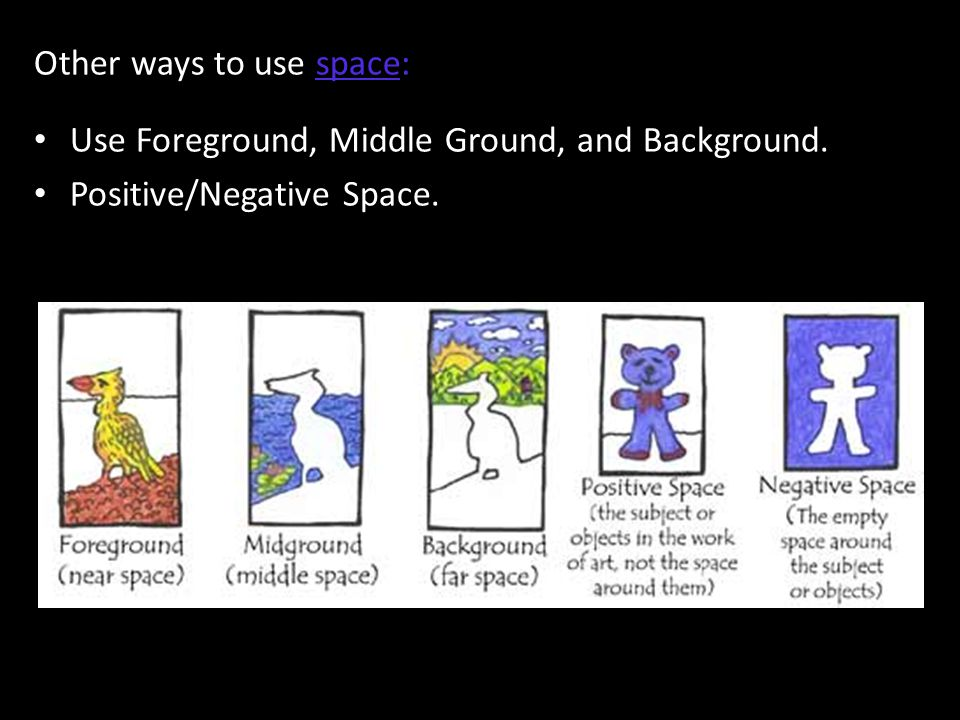 Other ways to use space: