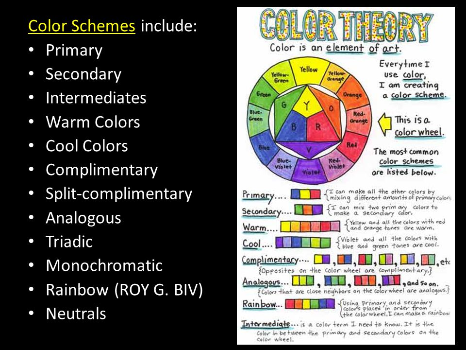 Color Schemes include: