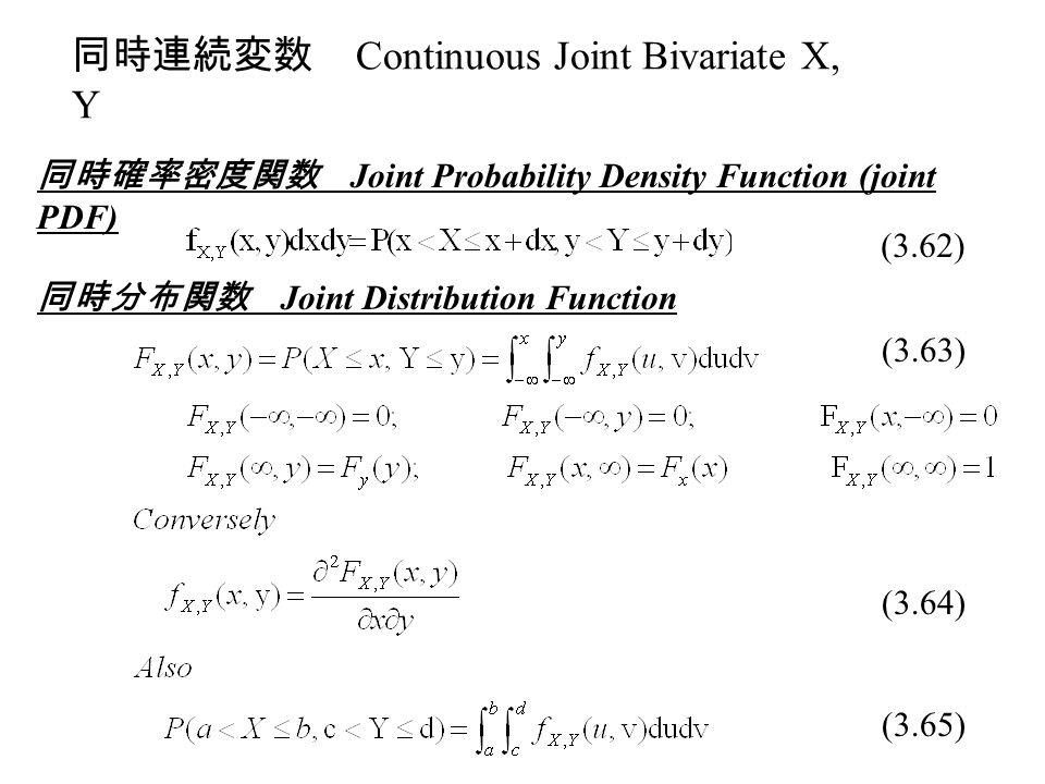 joint probability density function pdf