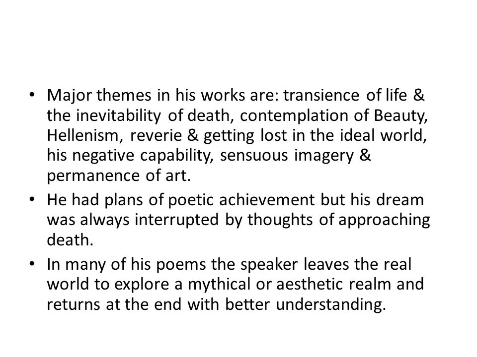 theme of a thing of beauty by john keats
