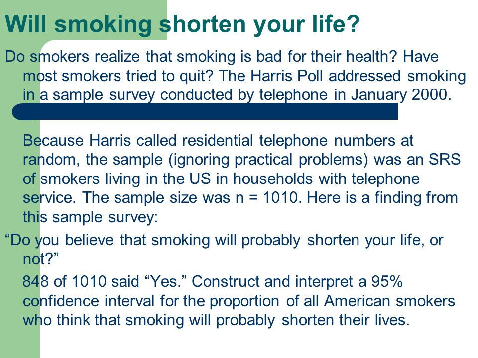 Will smoking shorten your life