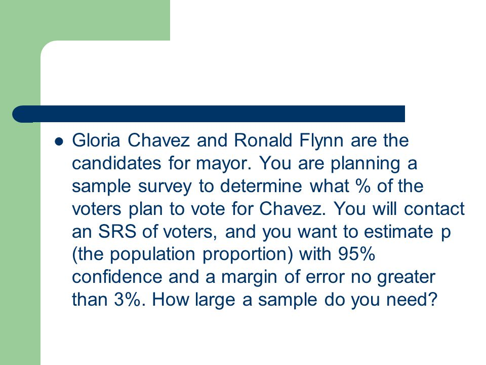 Gloria Chavez and Ronald Flynn are the candidates for mayor