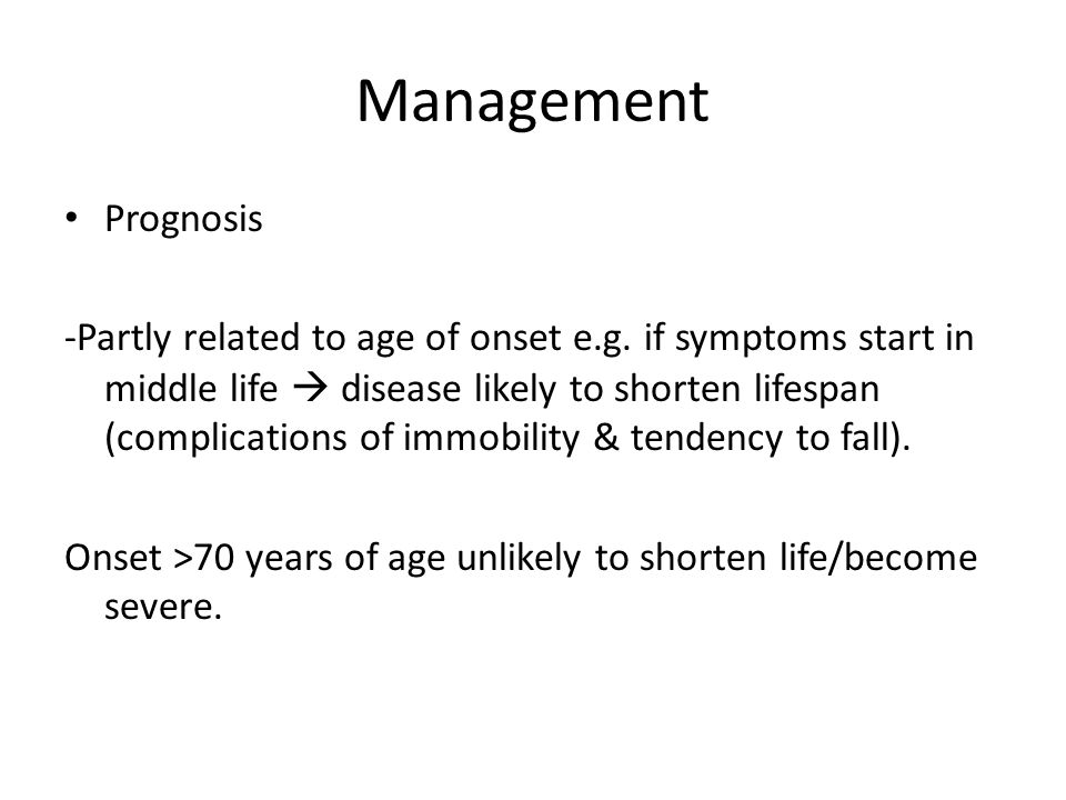 Management Prognosis.