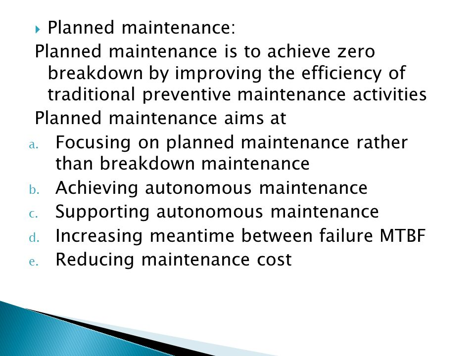 Zero breakdown maintenance ppt