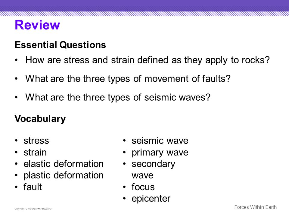 Review Essential Questions