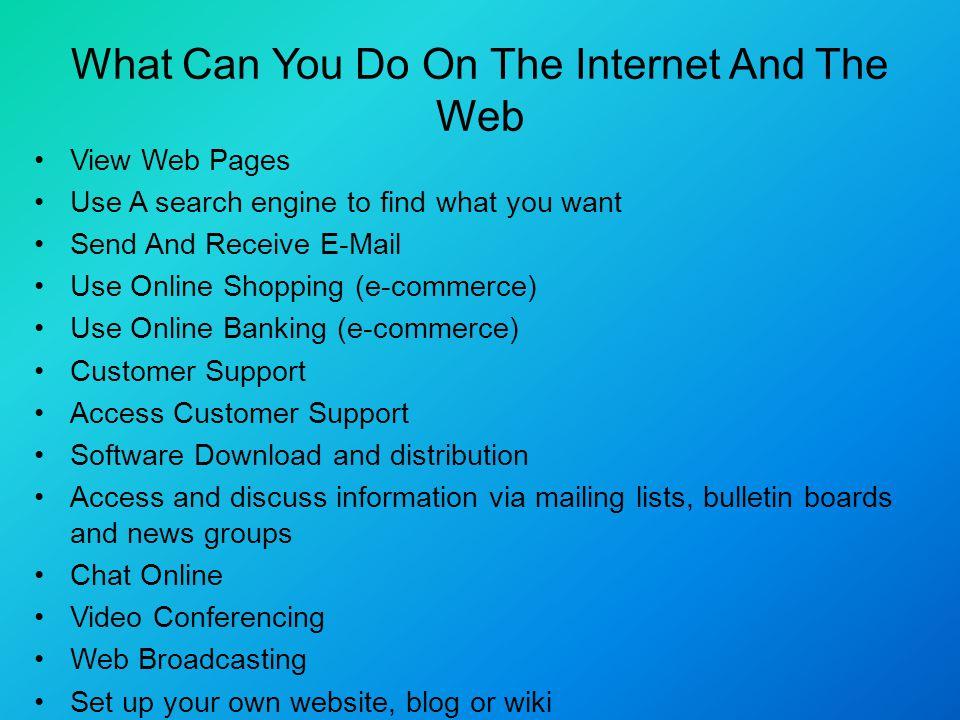 Conferencing Internet Web