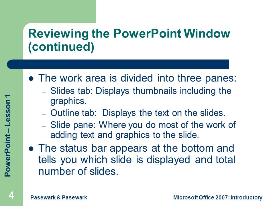 introduction to ms powerpoint 2007 pdf