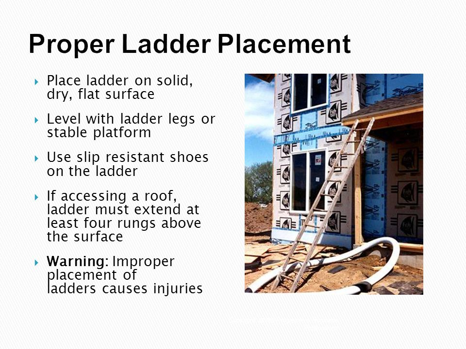 Ladder Safety Today S Topic Is Ladder Safety This