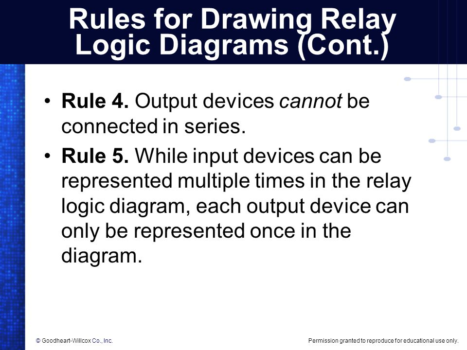 Rules For Drawing Relay Logic Diagrams Cont