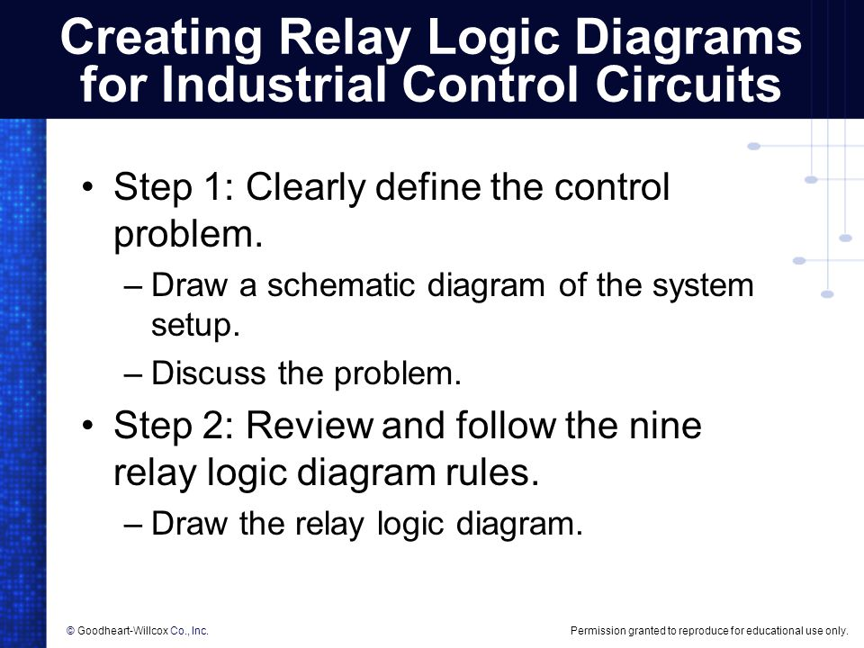 Creating Relay Logic Diagrams - ppt download