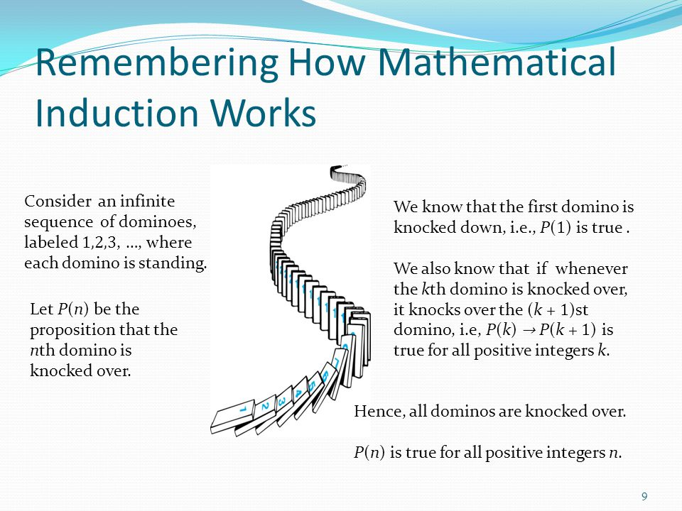 Remembering How Mathematical Induction Works