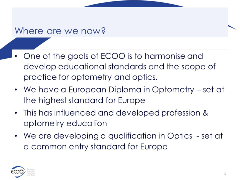 European Qualifications In Optometry And Optics Ppt Video Online