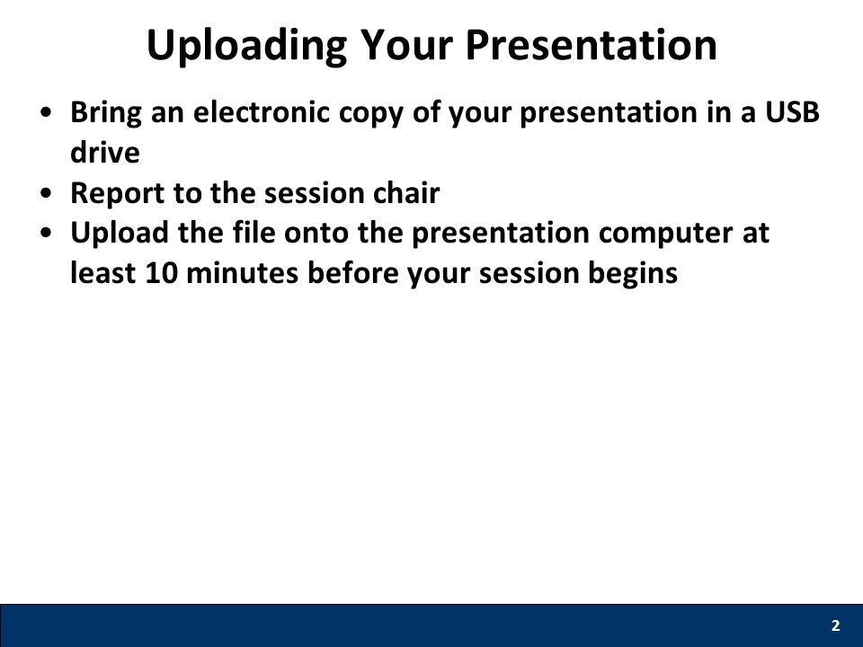 Uploading Your Presentation