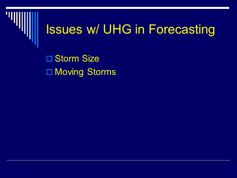 Issues w/ UHG in Forecasting