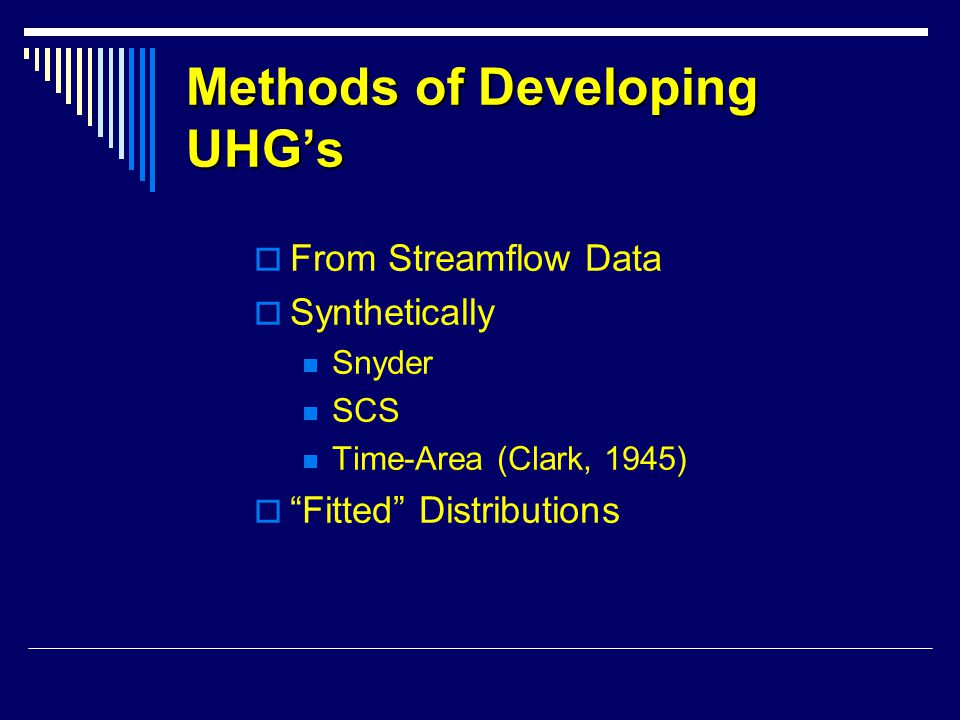 Methods of Developing UHG's