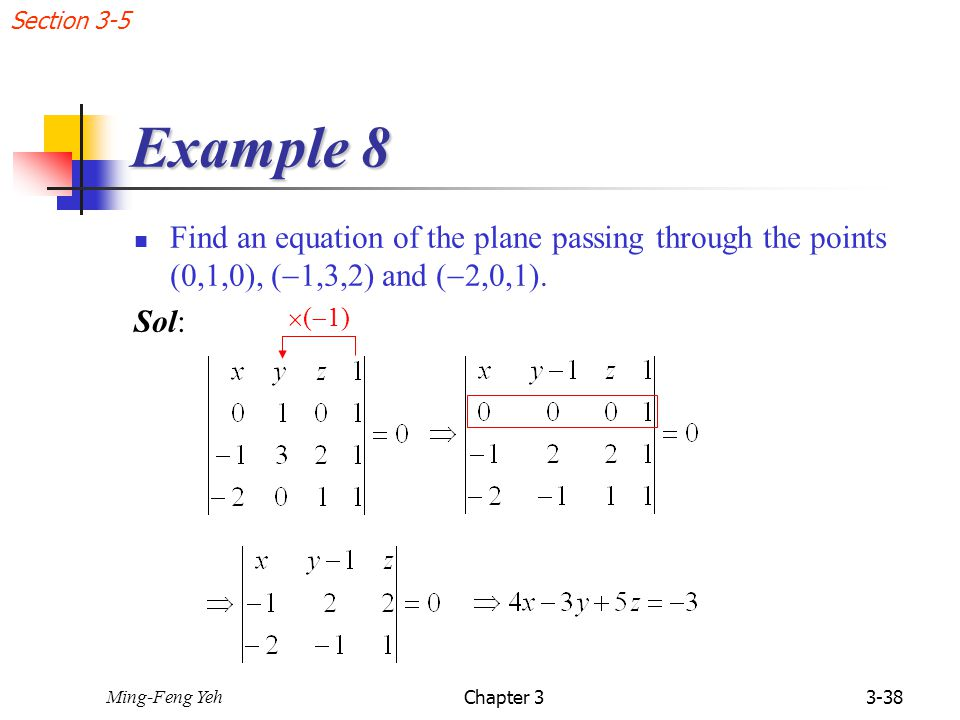 how to find the equation of a plane