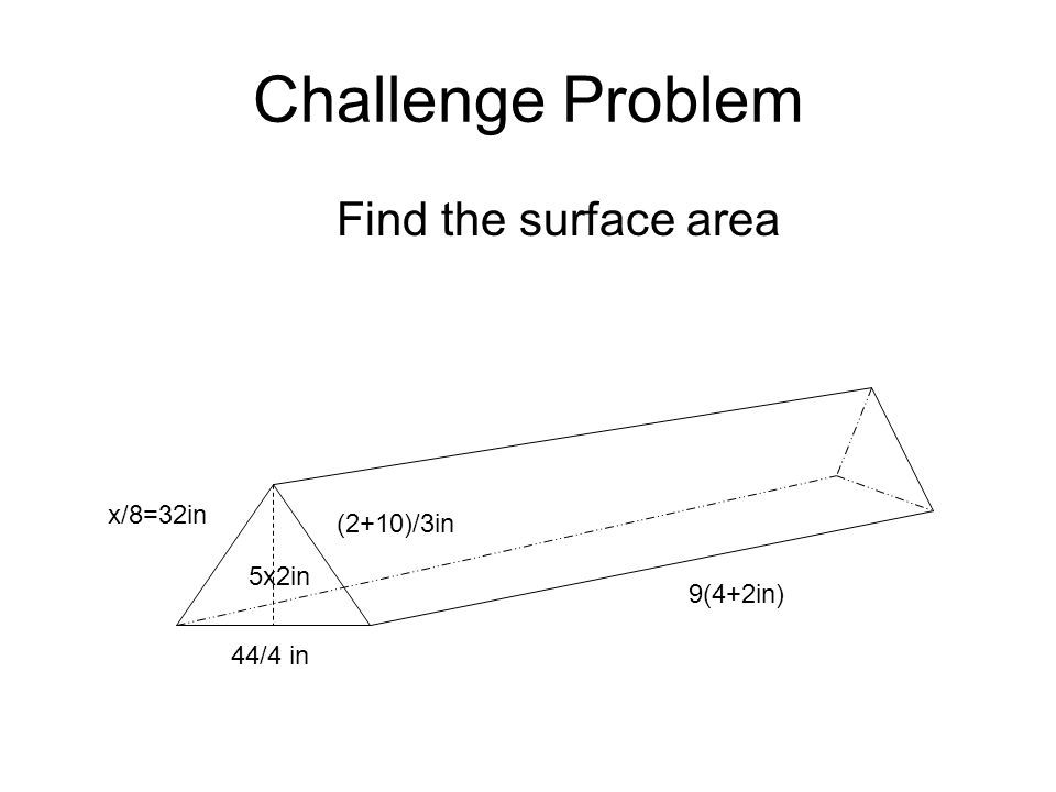Lesson Plan Objective- SWBAT find the surface area of a triangular ...