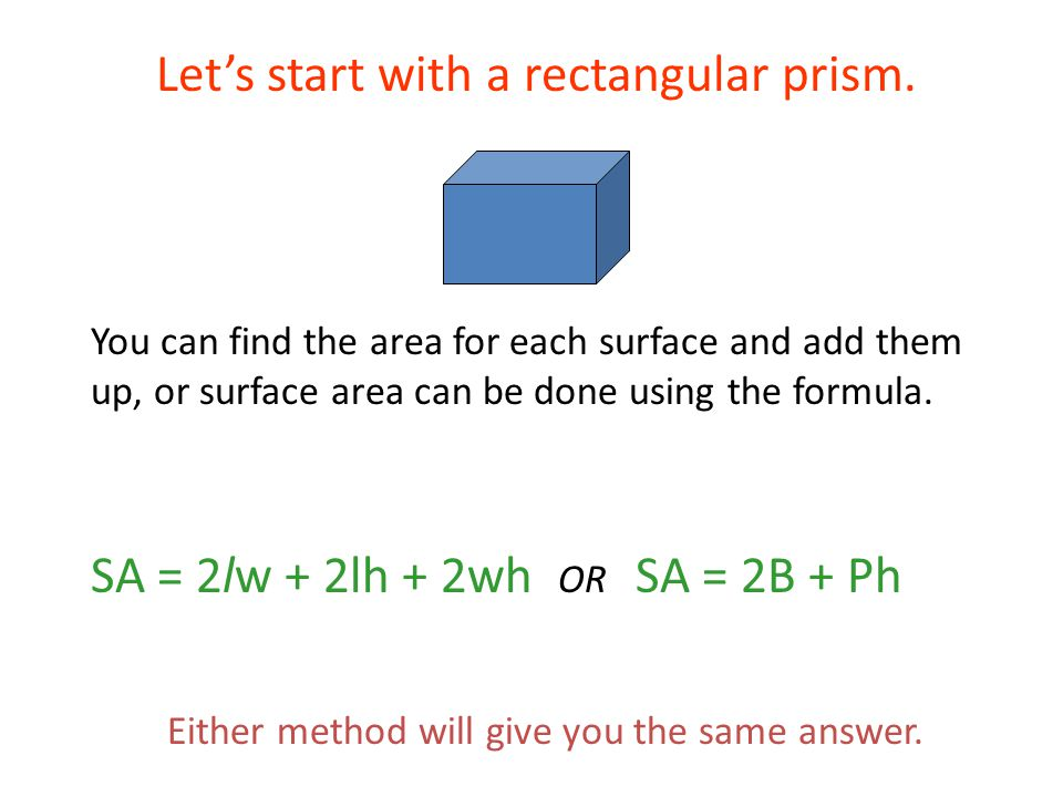 Bell Work Find the surface area of each figure. - ppt download