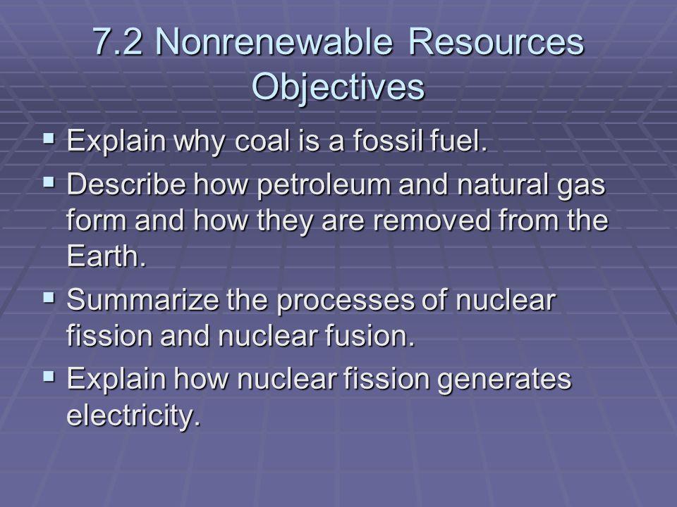 describe non renewable resources