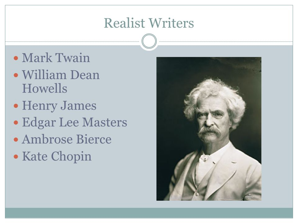 american realist writers