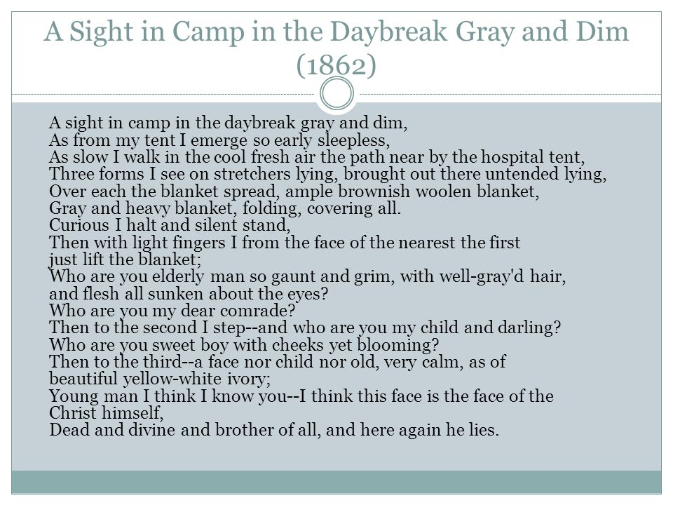 9 A Sight In Camp