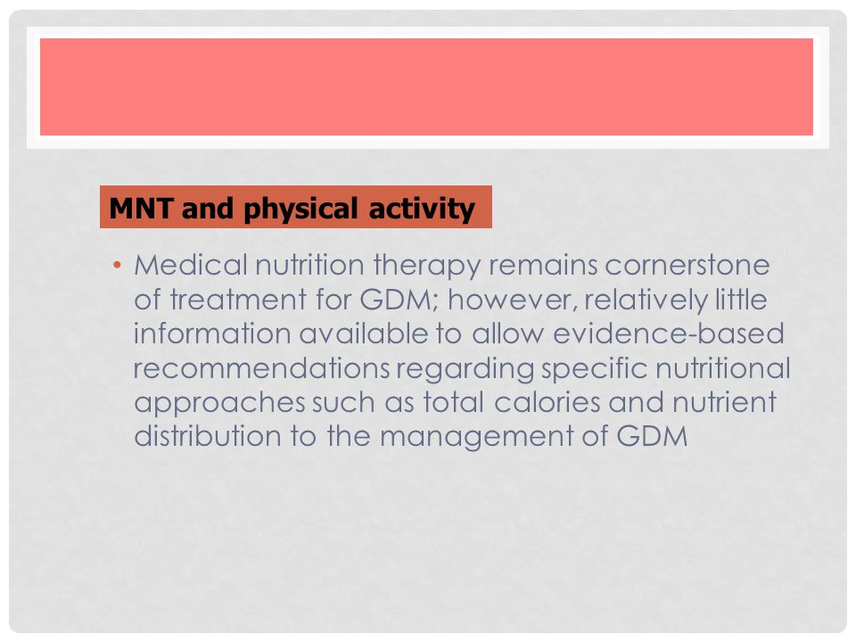 MNT and physical activity