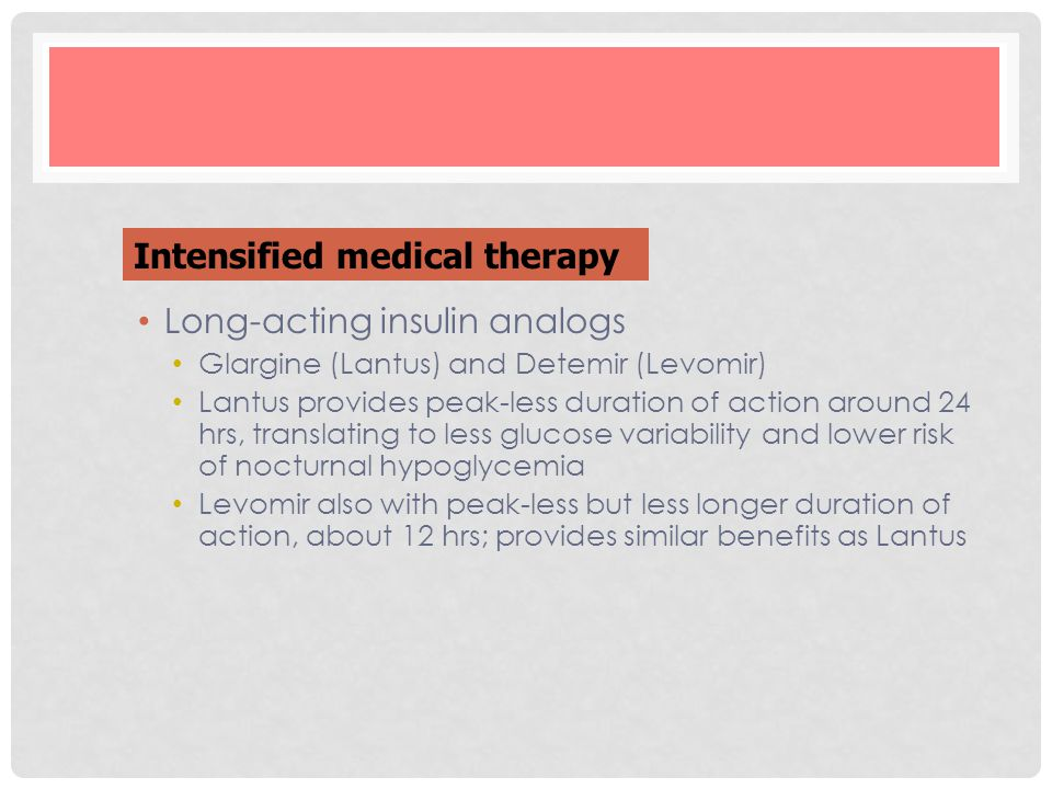 Intensified medical therapy