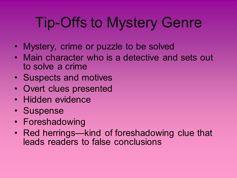 Mystery and Suspense Notes Mrs  Kinney  - ppt download
