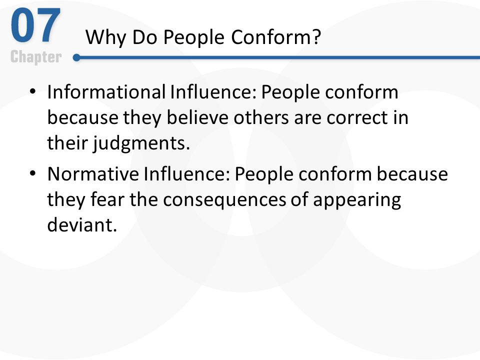 what is conformity list three reasons people conform what are three factors that increase the likeli Robert libby university of michigan and  for three separate components of  the factors schultz that & gustavson contribute.