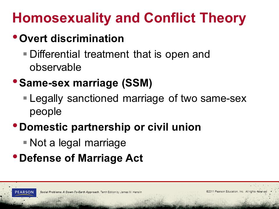 conflict perspective and gay marriage