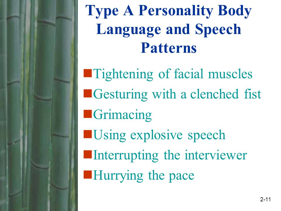body language personality types